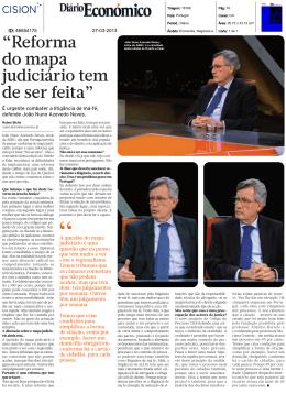 """""""Reforma do mapa judiciário tem de ser feita"""""""