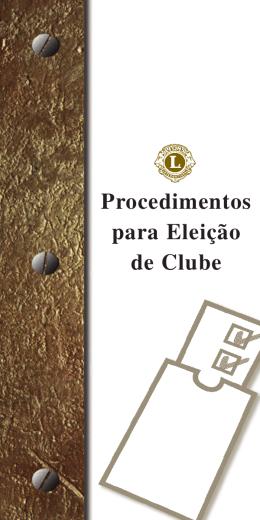 Diretrizes para eleições de clube