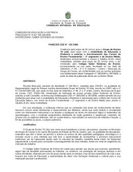 Ensino - cee rj - Governo do Estado do Rio de Janeiro