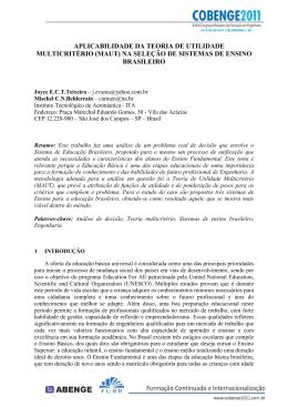 aplicabilidade da teoria de utilidade multicritério (maut)