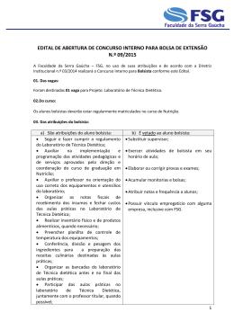 25/02/2015 Edital de Abertura de Concurso Interno para Bolsa de