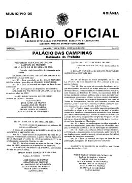 PALÁCIO DAS CAMPINAS - Prefeitura de Goiânia
