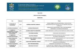 Aprovados Relato de Prática Pedagógica 08/09/2015 - PUC-SP