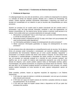 Notas da Aula 3 - Fundamentos de Sistemas Operacionais 1