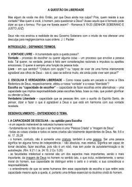 2015-02-08 Ricardo Mattos - A Soberania de Deus e o Livre Arbitrio