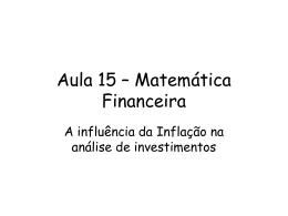 A influência da inflação na análise de investimentos
