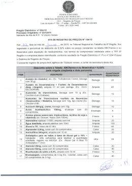Ata Registro de Preço - Tribunal Regional do Trabalho da 6ª Região