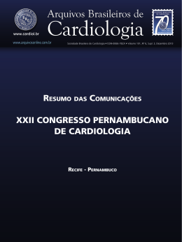XXii ConGResso PeRnamBuCano de CaRdioLoGia