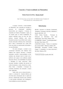 """O projeto """"Conexões e Transversalidade em Matemática"""