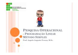 BSI10-PesquisaOperacional-Aula003 Programacao Linear