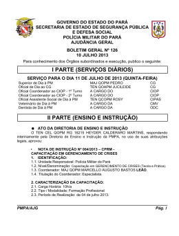 BG 126 - De 10 JUL 2013 - Proxy da Polícia Militar do Pará!