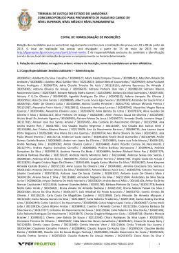 Edital de Homologação de Inscrições