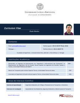 Curriculum Vitae - Universidade Católica Portuguesa