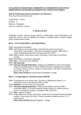 Auh0514 Programa 2o. Semestre 2013 - FAU
