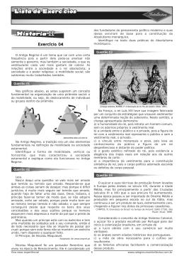 Lista de exercícios 3ºAno_Apostila 01- HISTÓRIA II