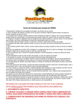 RETIRADA DE LOCAÇÃO SÓ SOB CONSULTA DO CPF E DO