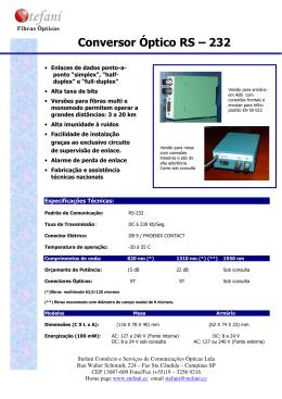 Conversor Óptico RS – 232