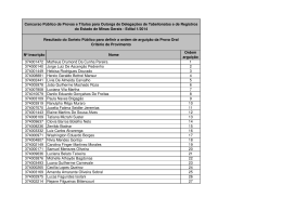 Clique aqui e veja as listas com o resultado do Sorteio Público.