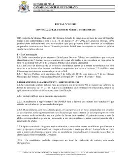 CÂMARA MUNICIPAL DE FLORIANO EDITAL Nº 02/2012