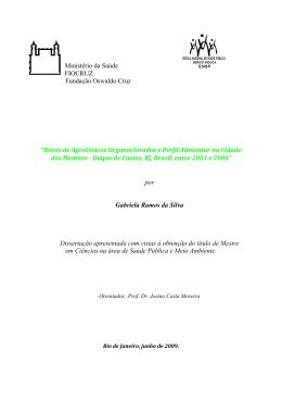 Níveis de Agrotóxicos Organoclorados e Perfil - Arca