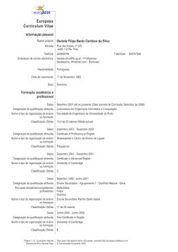 Curriculum Vitae formato Europeu ()