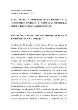 Boaventura de Sousa Santos Coimbra, 20 de Julho de