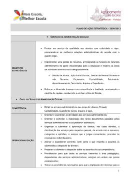 Enquadramento Estratégico - Serviço Administração Escolar