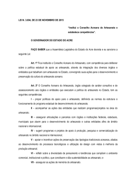 Lei3004 - Assembléia Legislativa do Estado do Acre