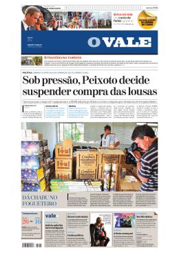 Sob pressão, Peixoto decide suspender compra das lousas