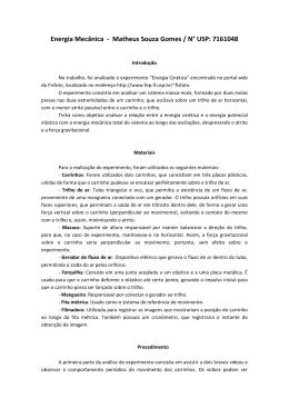 Energia Mecânica - Matheus Souza Gomes / N° USP: 7161048