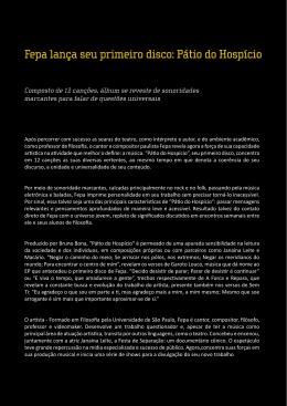 Fepa lança seu primeiro disco: Pátio do Hospício
