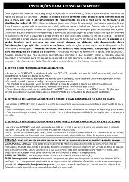 INSTRUÇÕES PARA ACESSO AO SIAPENET