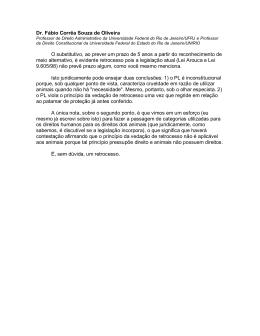 Dr. Fábio Corrêa Souza de Oliveira O substitutivo, ao prever um