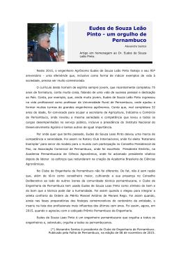Eudes de Souza Leão Pinto - um orgulho de