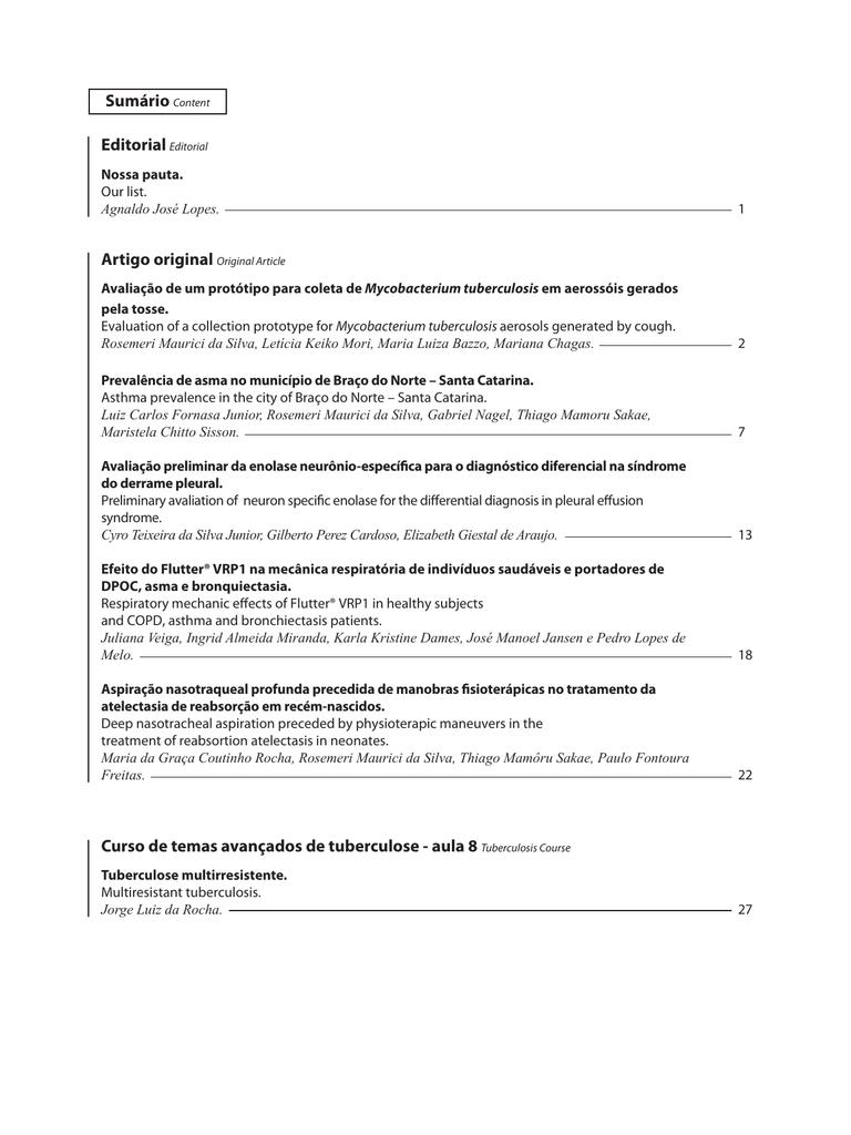 Revista completa sociedade de pneumologia e tisiologia do fandeluxe Images