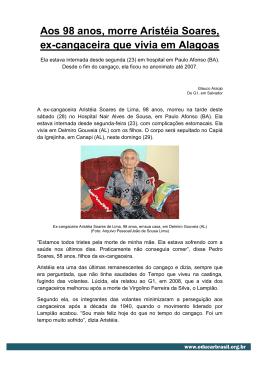 Aos 98 anos, morre Aristéia Soares, ex-cangaceira que vivia