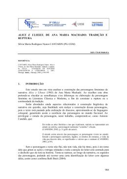 ALICE E ULISSES, DE ANA MARIA MACHADO: TRADIÇÃO