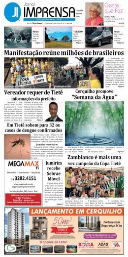 Manifestação reúne milhões de brasileiros