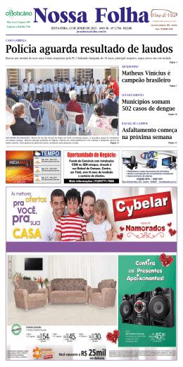 Edição 12/06/2015 - Jornal Nossa Folha