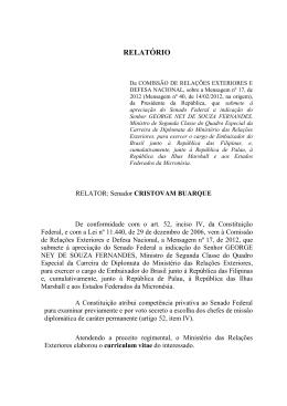 RELATÓRIO - Senado Federal