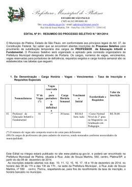 Prefeitura Municipal de Platina