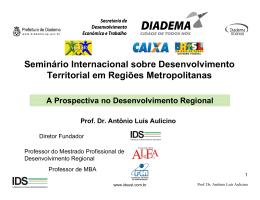 Seminário Internacional sobre Desenvolvimento Territorial em