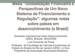 Seminário Internacional sobre Desenvolvimento, CDES, Brasília, 06