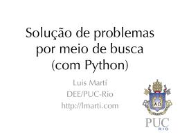 Solução de problemas por meio de busca (com Python)
