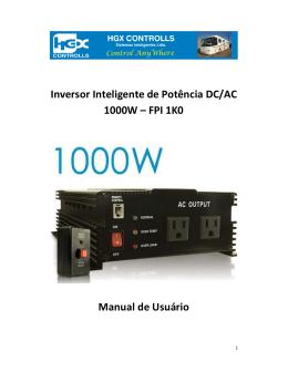 Inversor Inteligente de Potência DC/AC 1000W – FPI 1K0 Manual