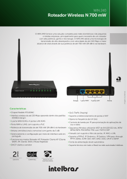 Roteador Wireless N 700 mW
