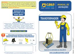 Manual de instruções transformador