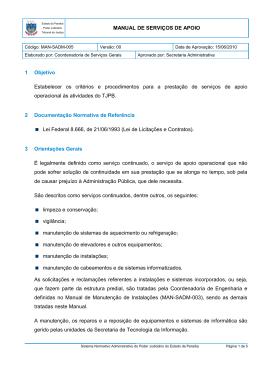 MAN-SADM-005 - Tribunal de Justiça da Paraíba