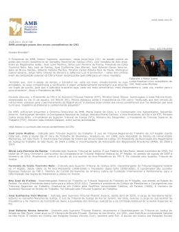 23/8/2011 20:47:08 AMB prestigia posse dos novos conselheiros do