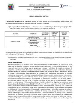 Errata 003 - Assistentes Sociais